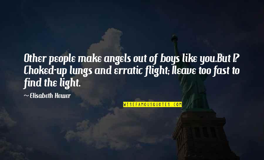 Running Training Quotes By Elisabeth Hewer: Other people make angels out of boys like