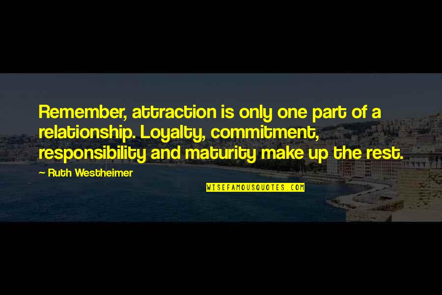 Ruth Westheimer Quotes By Ruth Westheimer: Remember, attraction is only one part of a