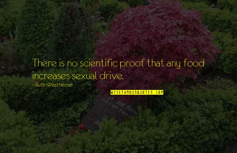 Ruth Westheimer Quotes By Ruth Westheimer: There is no scientific proof that any food