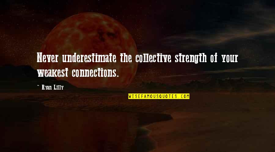 Ryan O'leary Quotes By Ryan Lilly: Never underestimate the collective strength of your weakest