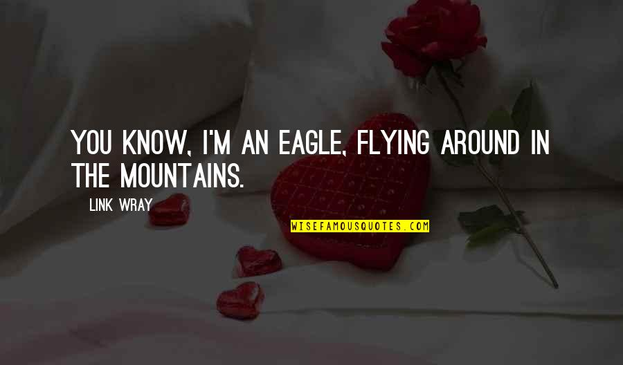 Sad Avoiding Quotes By Link Wray: You know, I'm an eagle, flying around in
