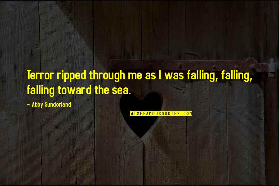 Sad Larry Stylinson Quotes By Abby Sunderland: Terror ripped through me as I was falling,