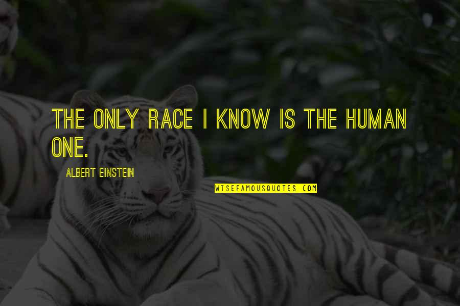 Sad Taglish Quotes By Albert Einstein: The only race I know is the human