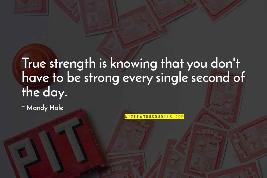 Sadness And Strength Quotes By Mandy Hale: True strength is knowing that you don't have