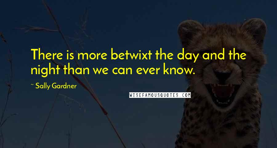 Sally Gardner quotes: There is more betwixt the day and the night than we can ever know.