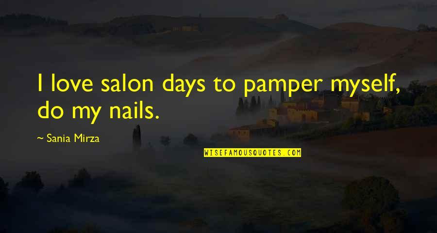 Salon Quotes By Sania Mirza: I love salon days to pamper myself, do