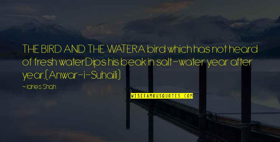 Salt Water Quotes By Idries Shah: THE BIRD AND THE WATERA bird which has