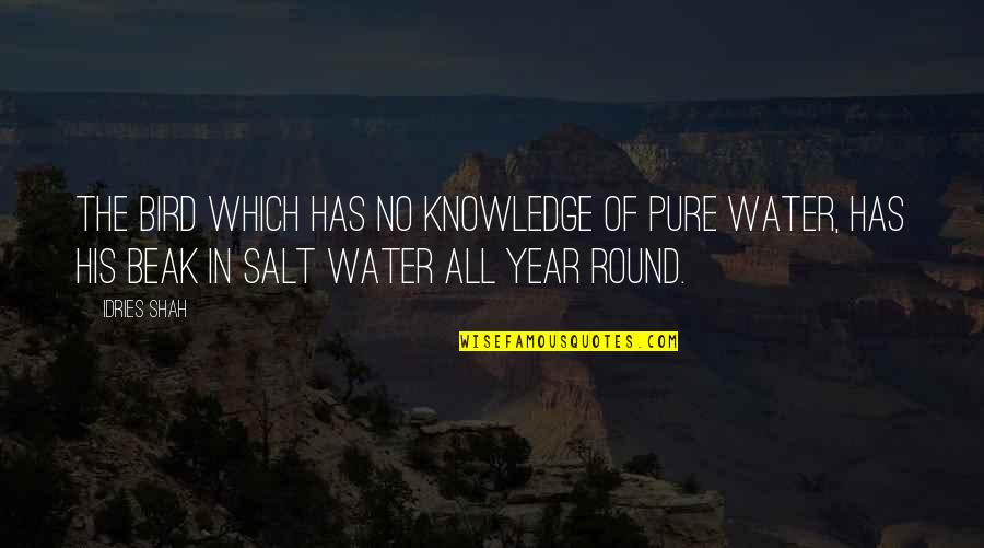 Salt Water Quotes By Idries Shah: The bird which has no knowledge of pure