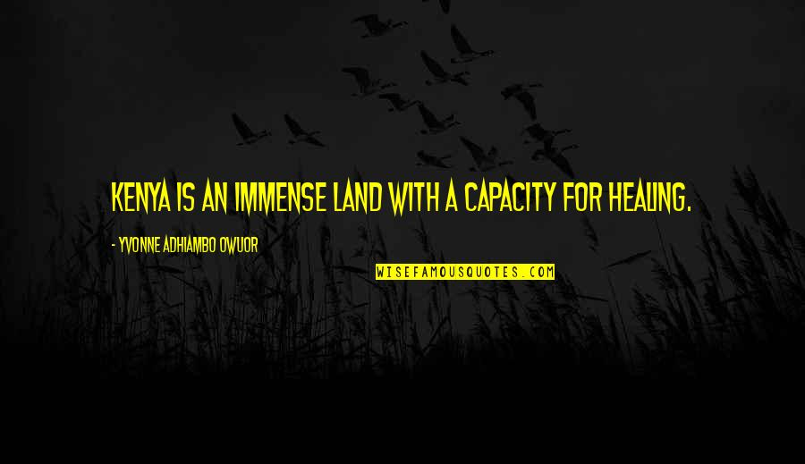Salute Your Shorts Quotes By Yvonne Adhiambo Owuor: Kenya is an immense land with a capacity