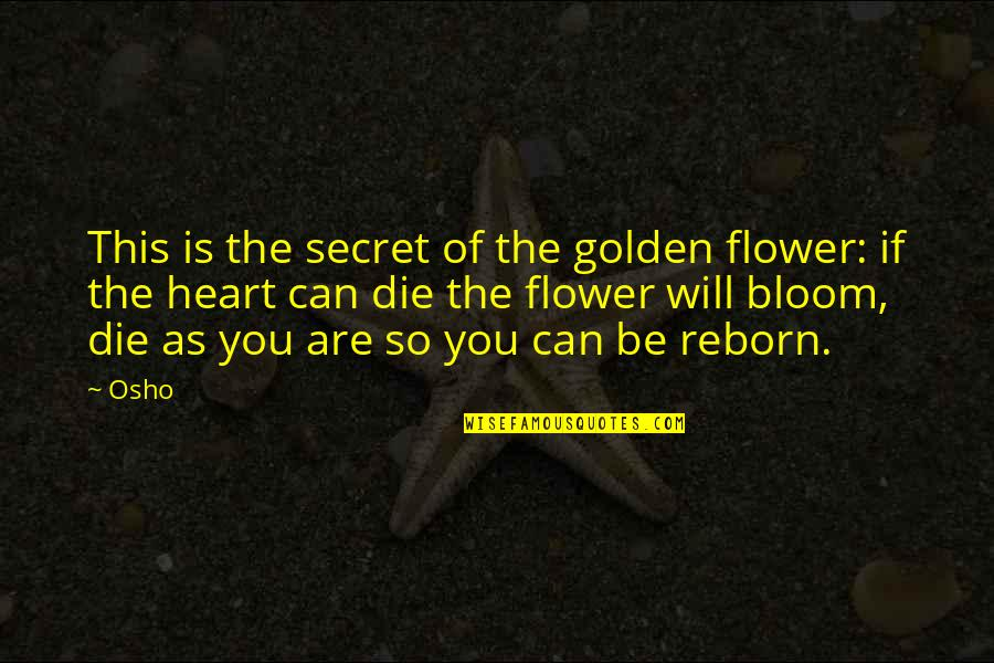 Sam Hammam Quotes By Osho: This is the secret of the golden flower:
