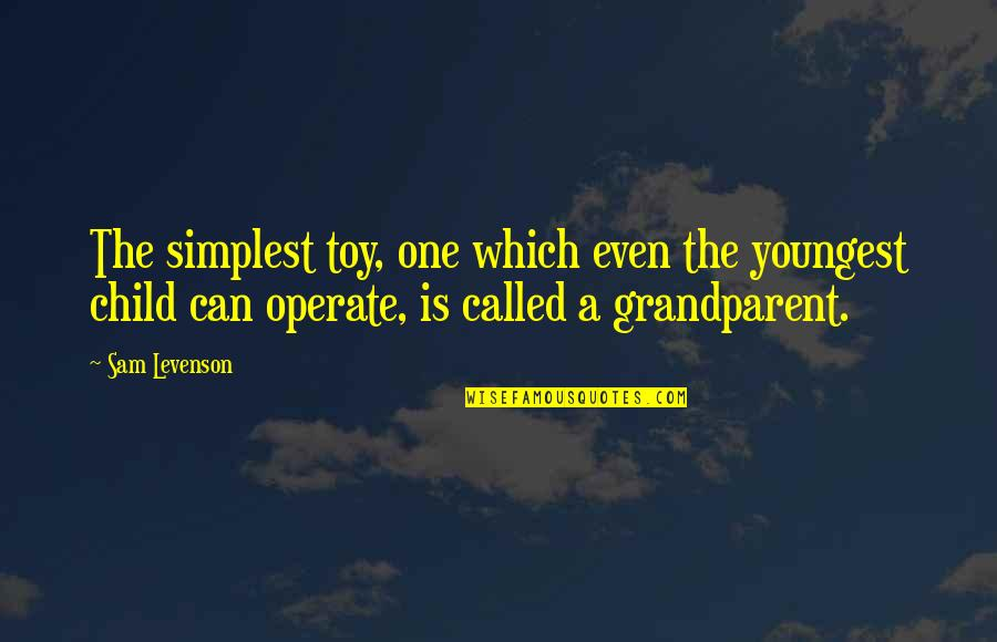 Sam Levenson Quotes By Sam Levenson: The simplest toy, one which even the youngest