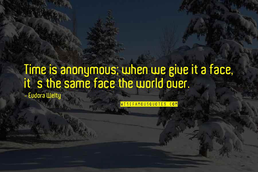 Same Time Quotes By Eudora Welty: Time is anonymous; when we give it a