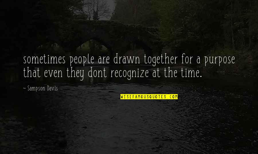 Sampson Quotes By Sampson Davis: sometimes people are drawn together for a purpose