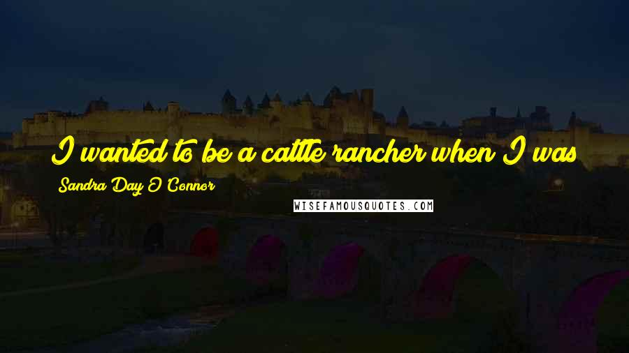 Sandra Day O'Connor quotes: I wanted to be a cattle rancher when I was young, because it was what I knew and I loved it.