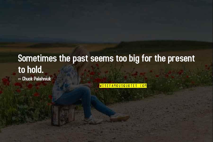 Sandy Beach Aa Quotes By Chuck Palahniuk: Sometimes the past seems too big for the