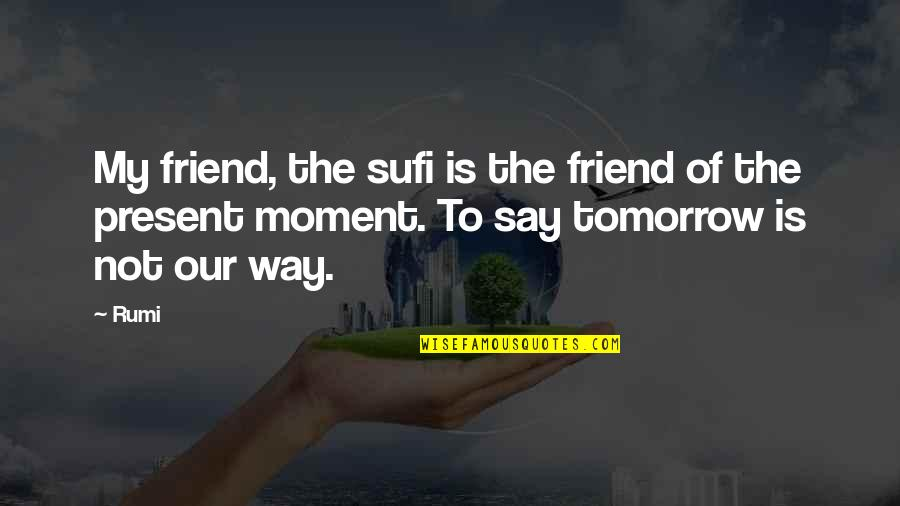 Sapul Patama Quotes By Rumi: My friend, the sufi is the friend of