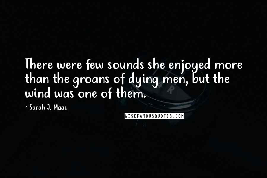 Sarah J. Maas quotes: There were few sounds she enjoyed more than the groans of dying men, but the wind was one of them.