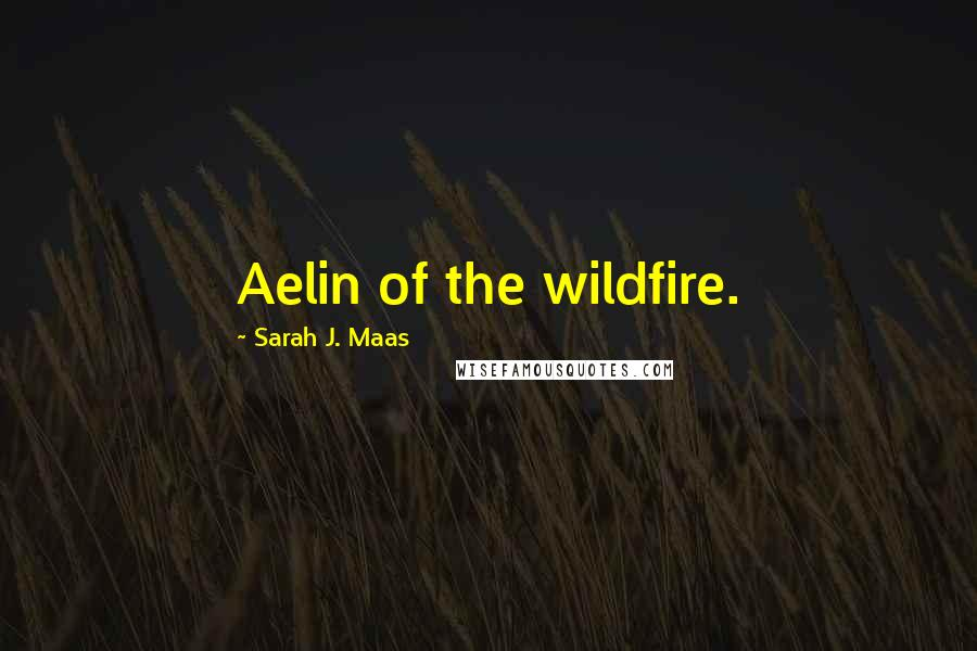 Sarah J. Maas quotes: Aelin of the wildfire.