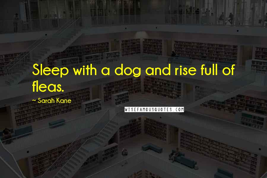 Sarah Kane quotes: Sleep with a dog and rise full of fleas.