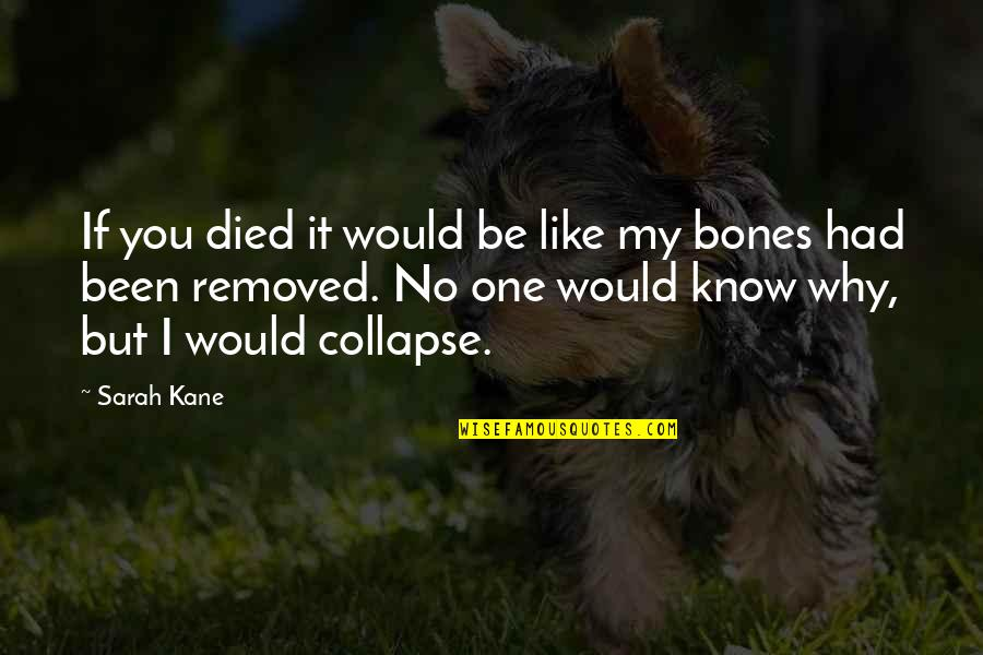 Sarah Kane Quotes By Sarah Kane: If you died it would be like my