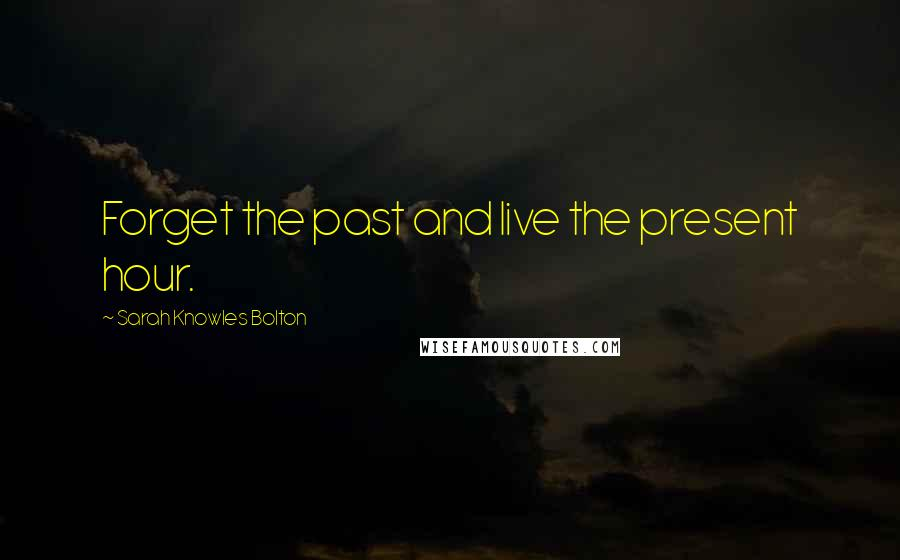Sarah Knowles Bolton quotes: Forget the past and live the present hour.