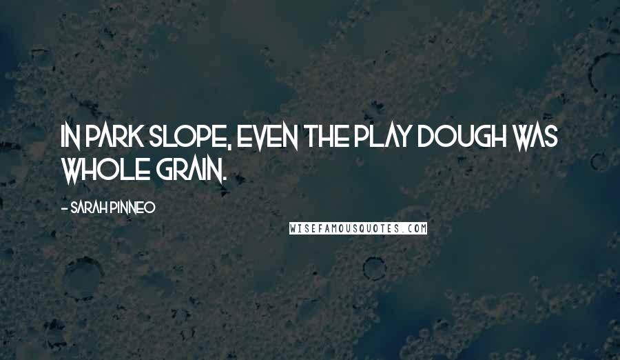 Sarah Pinneo quotes: In Park Slope, even the play dough was whole grain.