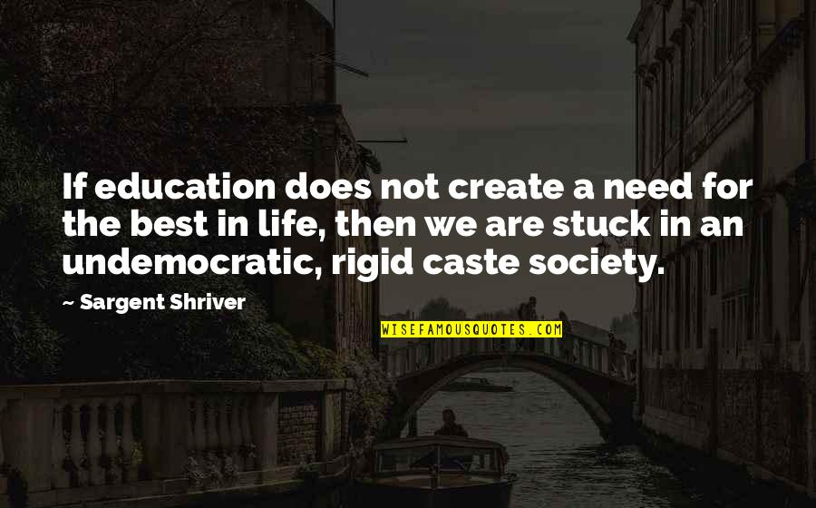 Sargent Quotes By Sargent Shriver: If education does not create a need for