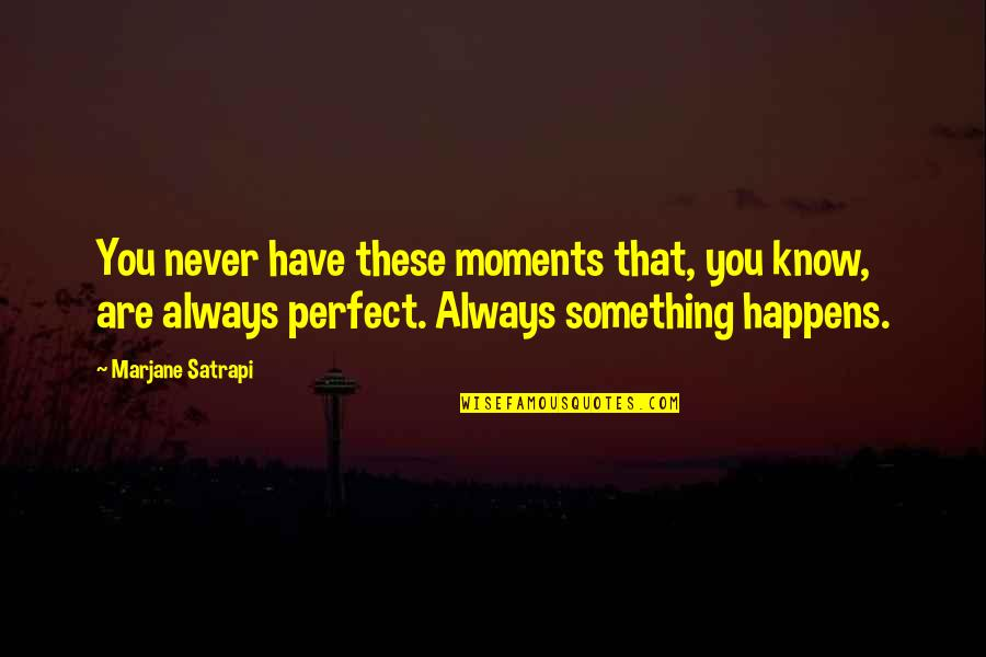 Satrapi Quotes By Marjane Satrapi: You never have these moments that, you know,