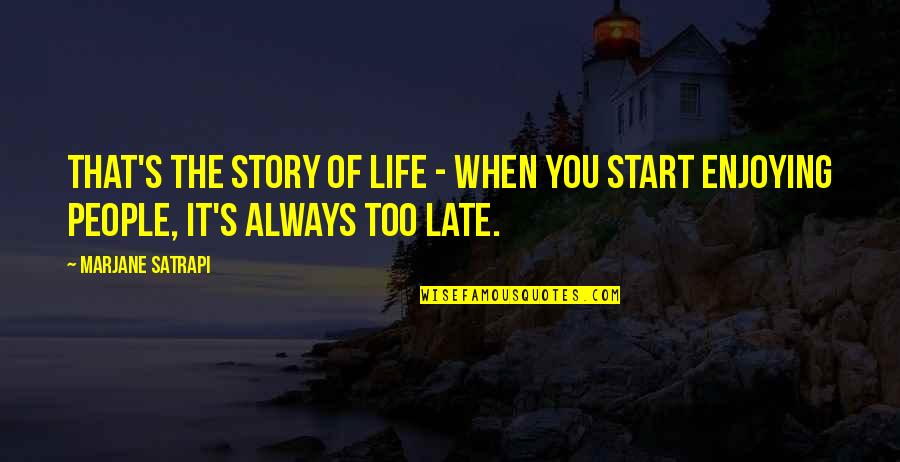 Satrapi Quotes By Marjane Satrapi: That's the story of life - when you