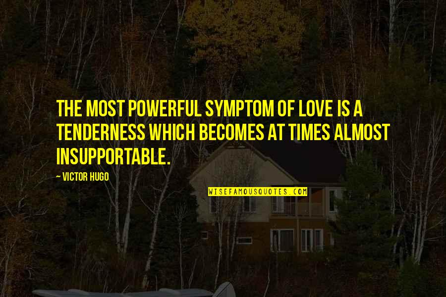 Saturday Messages And Quotes By Victor Hugo: The most powerful symptom of love is a