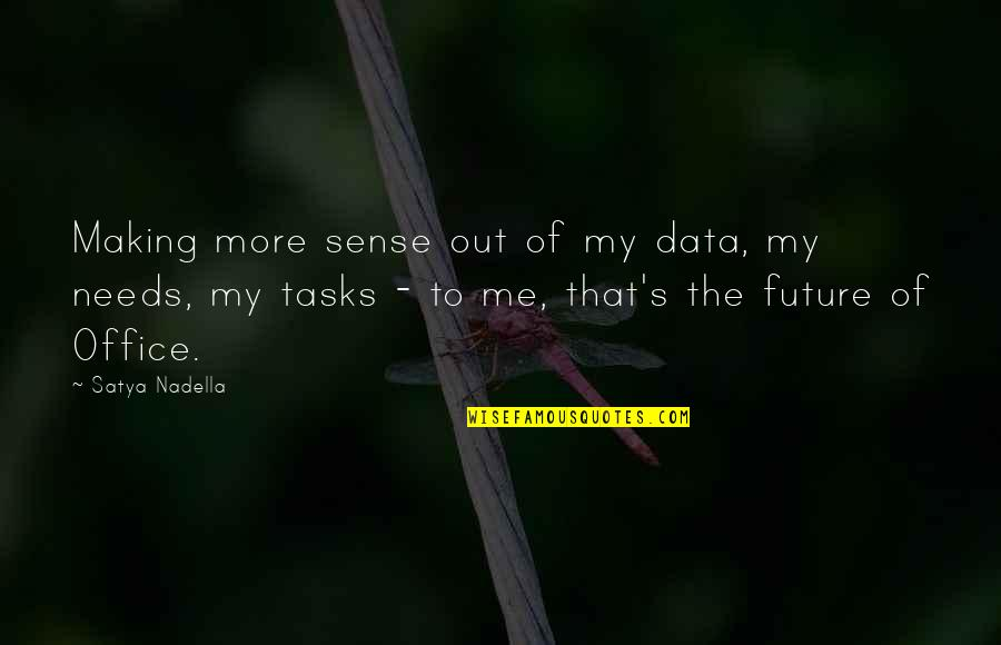 Satya 2 Quotes By Satya Nadella: Making more sense out of my data, my