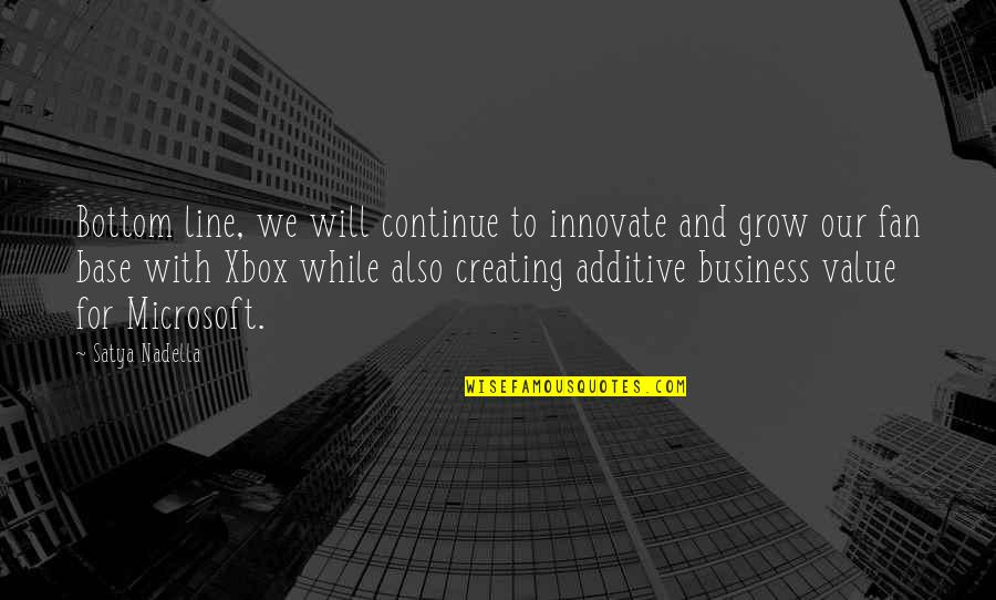 Satya 2 Quotes By Satya Nadella: Bottom line, we will continue to innovate and