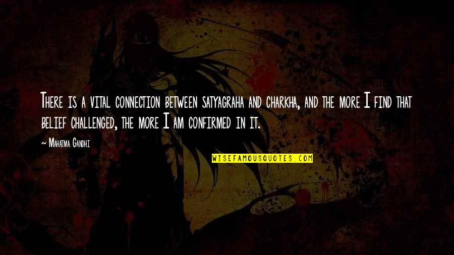 Satyagraha Quotes By Mahatma Gandhi: There is a vital connection between satyagraha and
