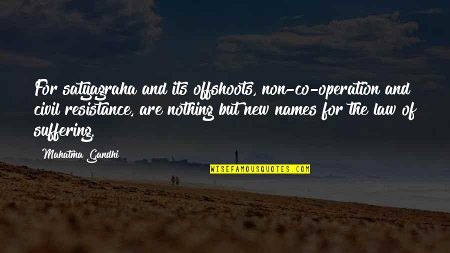 Satyagraha Quotes By Mahatma Gandhi: For satyagraha and its offshoots, non-co-operation and civil