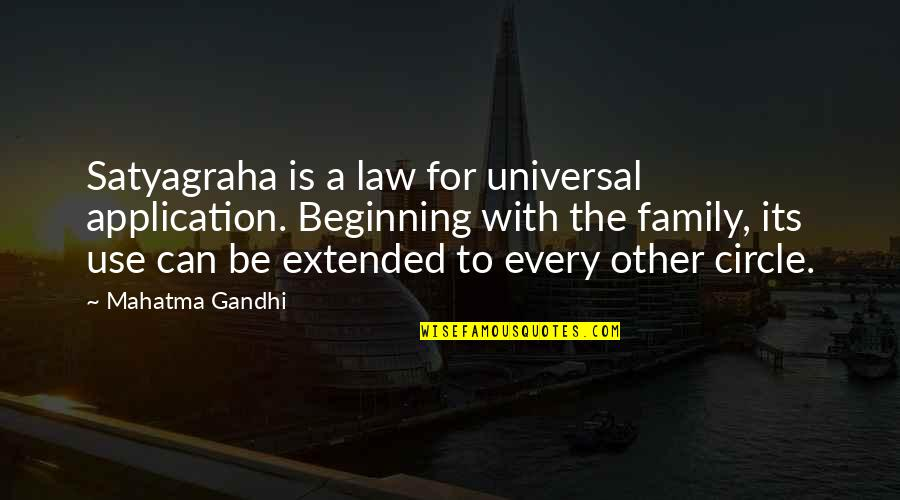 Satyagraha Quotes By Mahatma Gandhi: Satyagraha is a law for universal application. Beginning