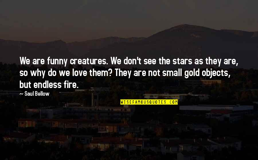 Saul Bellow's Quotes By Saul Bellow: We are funny creatures. We don't see the