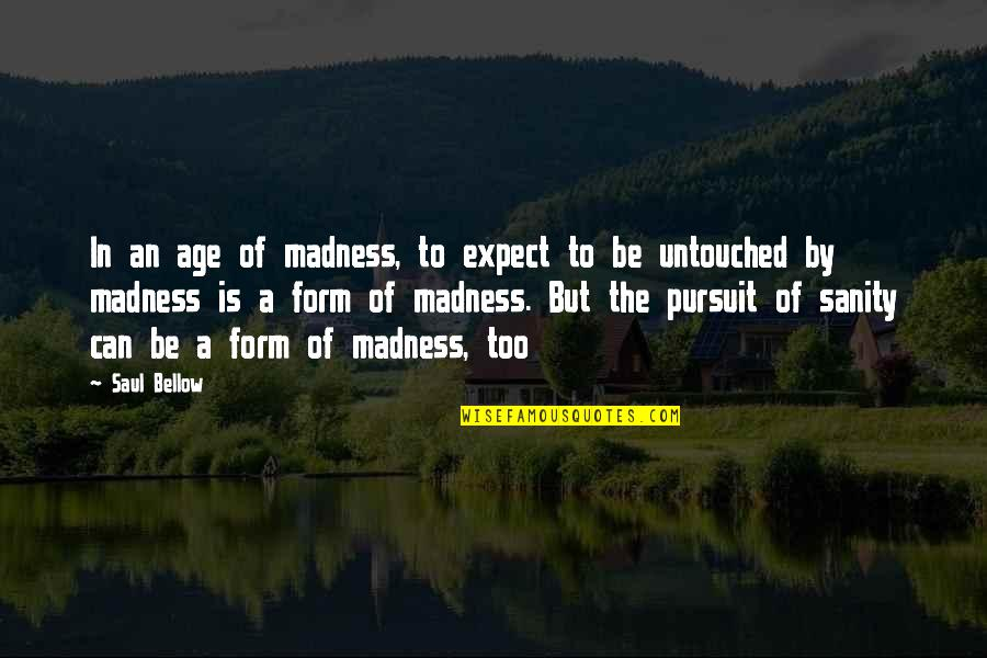 Saul Bellow's Quotes By Saul Bellow: In an age of madness, to expect to