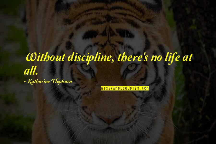 Sayed Jamaluddin Afghan Quotes By Katharine Hepburn: Without discipline, there's no life at all.