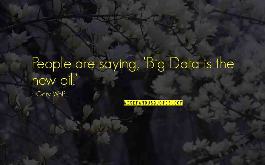 Saying It's Over Quotes By Gary Wolf: People are saying, 'Big Data is the new