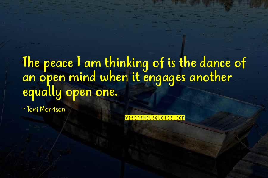 Saying The Pledge Of Allegiance Quotes By Toni Morrison: The peace I am thinking of is the