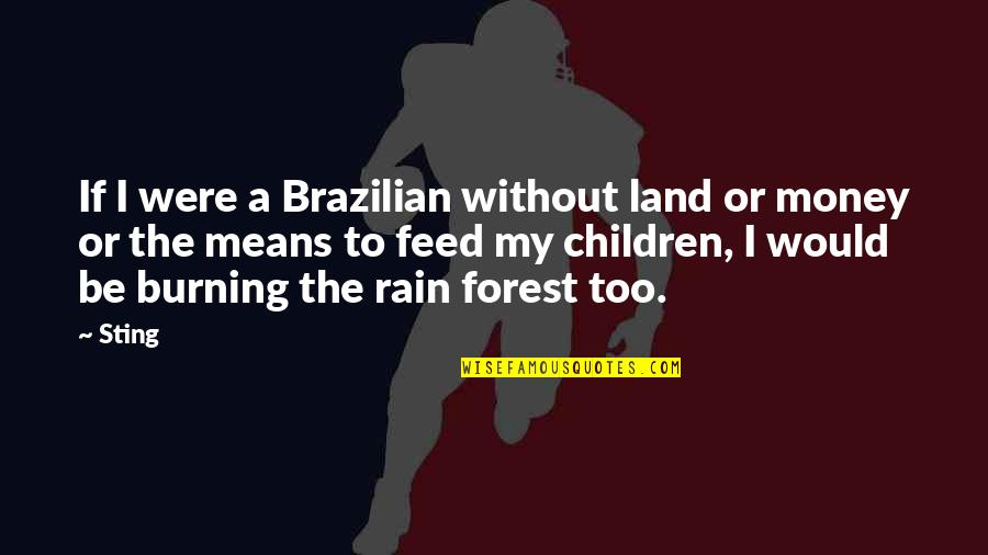 Sayyidina Umar Quotes By Sting: If I were a Brazilian without land or