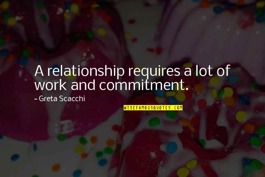 Scacchi Quotes By Greta Scacchi: A relationship requires a lot of work and