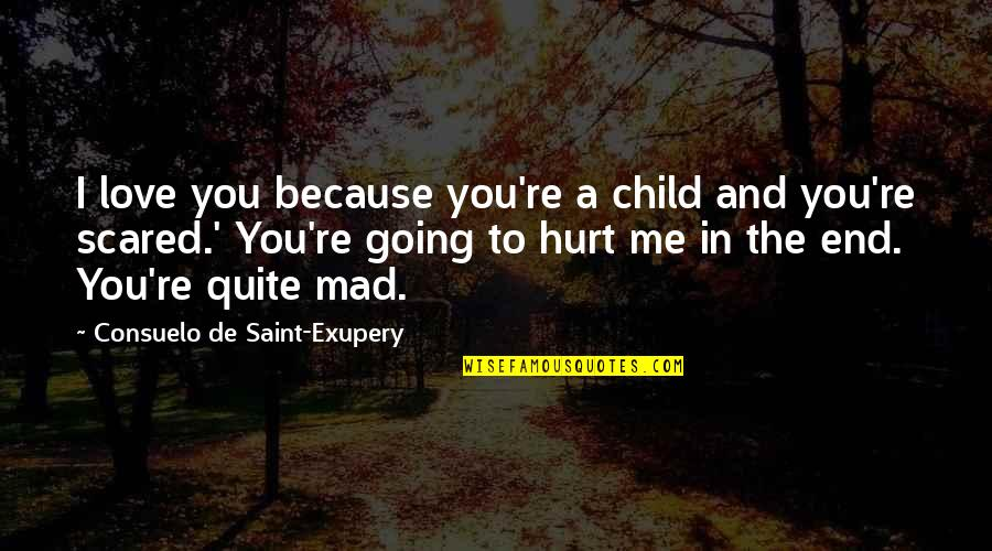 Scared You'll Hurt Me Quotes By Consuelo De Saint-Exupery: I love you because you're a child and