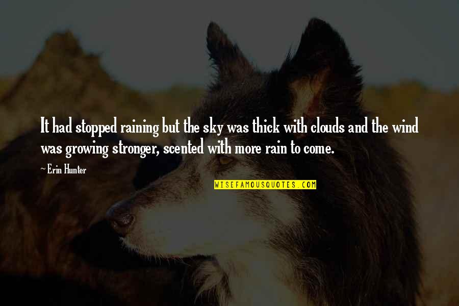 Scented Quotes By Erin Hunter: It had stopped raining but the sky was