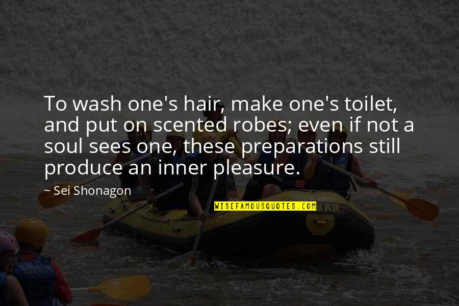 Scented Quotes By Sei Shonagon: To wash one's hair, make one's toilet, and