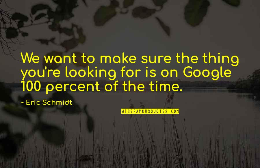Schmidt Best Quotes By Eric Schmidt: We want to make sure the thing you're
