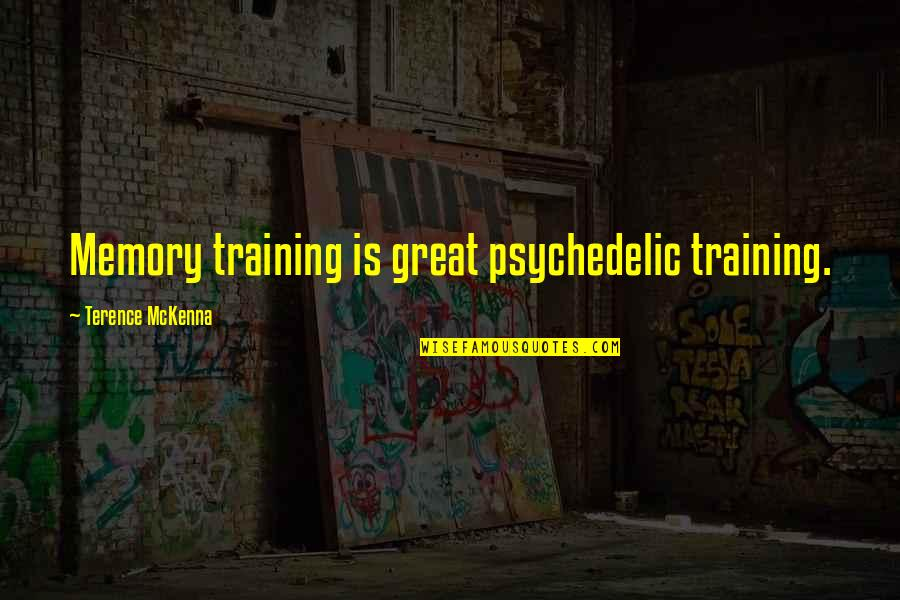 Schneerson Quotes By Terence McKenna: Memory training is great psychedelic training.