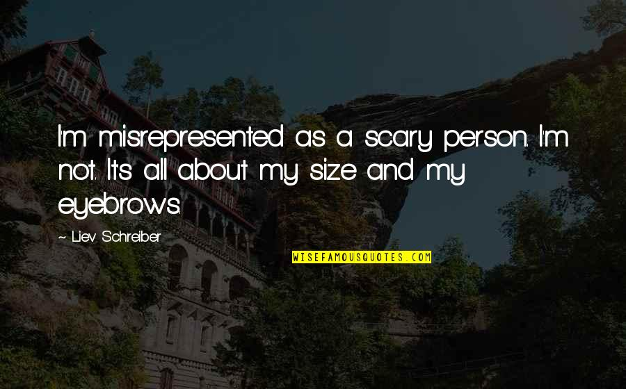 Schreiber Quotes By Liev Schreiber: I'm misrepresented as a scary person. I'm not.