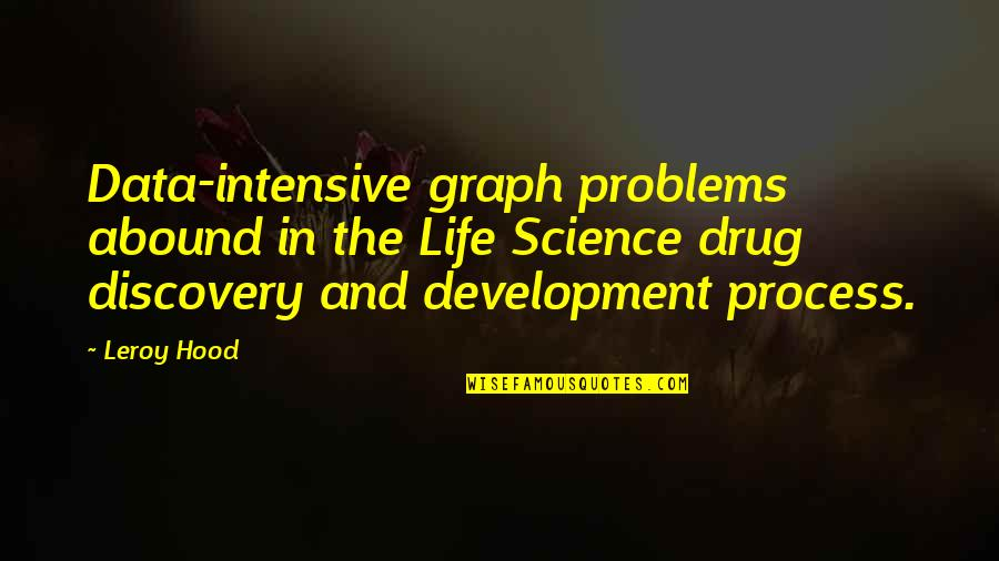Science Data Quotes By Leroy Hood: Data-intensive graph problems abound in the Life Science