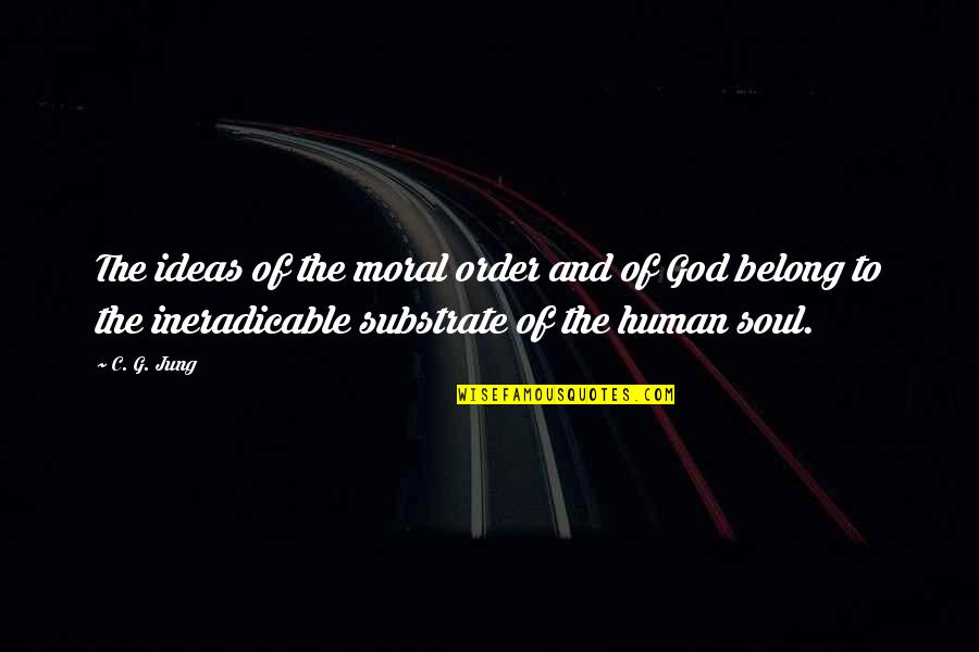 Science Vs God Quotes By C. G. Jung: The ideas of the moral order and of